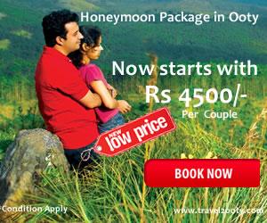 Ooty honeymoon tour packages honeymoon package for 4 for Honeymoon packages for ooty