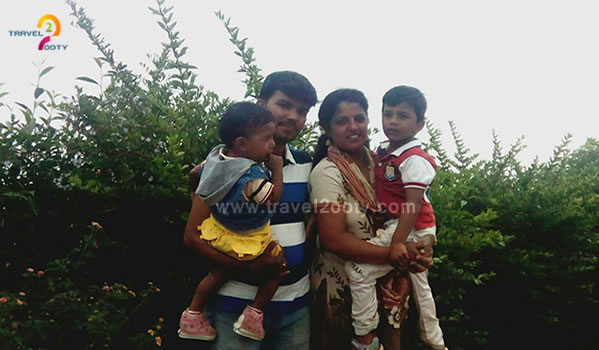 Palani & Ambika with two kids family tour in ooty
