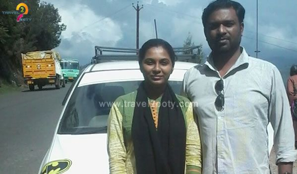 Sanjay with his wife  Ooty honeymoon tour packages from Chennai
