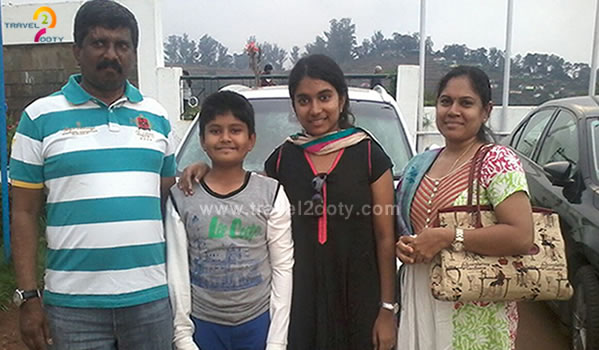 Suba hari and family tour in ooty
