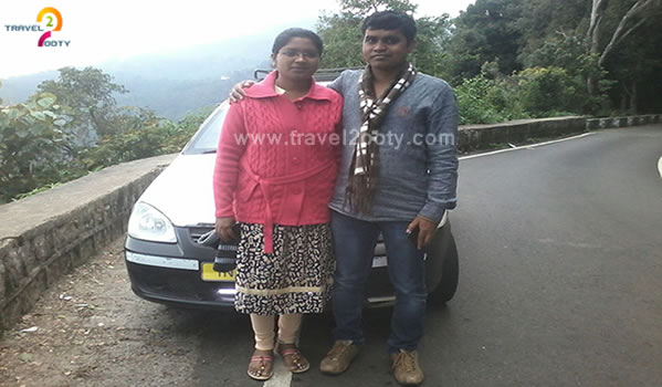 tushar & Rupali  Ooty honeymoon tour packages from Mumbai