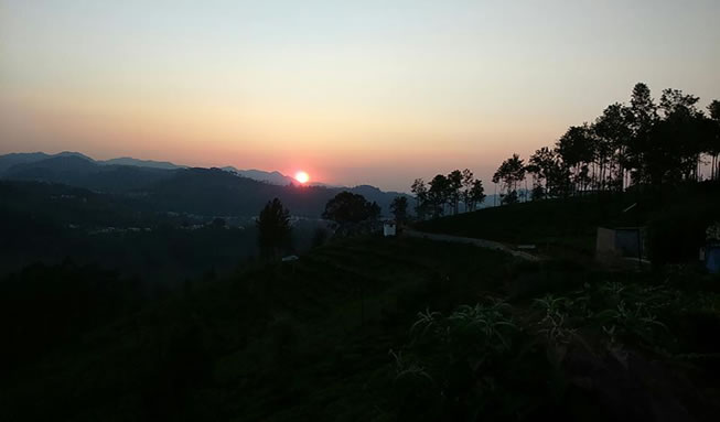 perfect sunset ooty