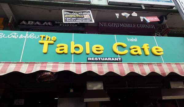 Table Cafe Ooty