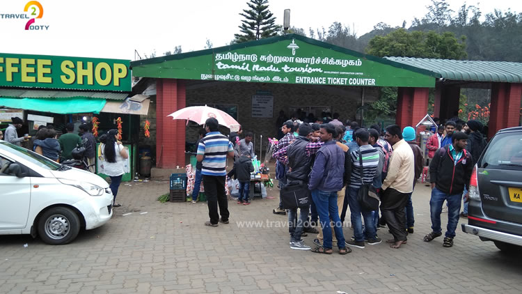 ooty boat house entrance ticket counter
